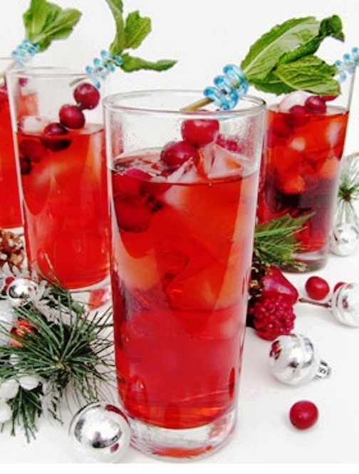 Cranberry Gin Fizz---My Mother's Favorite Cocktail Was A Sloe Gin Fizz...And, As I Recall, When I Was Allowed A Sip, They Were Delicious...Here's a Variation...Sloe Gin, Gin & Cranberry Ginger Ale...Perfect at Christmas, Valentines Day or Anytime!!