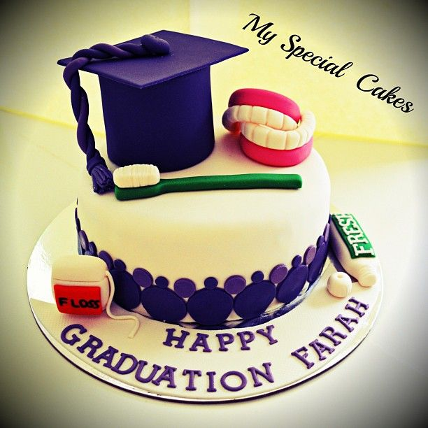 .@myspecialcakes   Dentist Graduation Cake   Webstagram