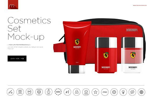 Cosmetics Set Mock-up by mesmeriseme.pro on @creativemarket