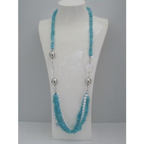 Che collana in pietra dura lunga!! E' meravigliosa! http://www.collane-bracciali.it