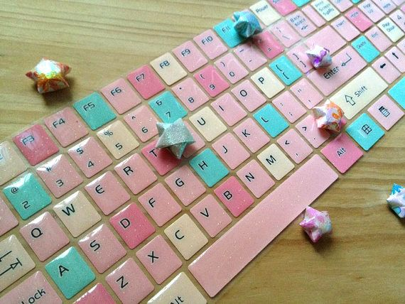 Glittler Mosaic Keyboard sticker fancy computer Sticker colorful cute Laptop skin PC desktop sticker fancy computer cover alphabet sticker