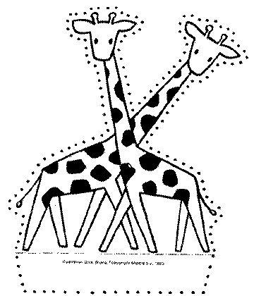 Giraf prikkaart