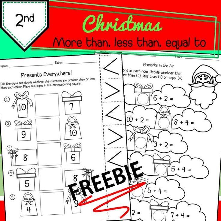 FREEBIE Christmas More Than Less Than Equal To Free