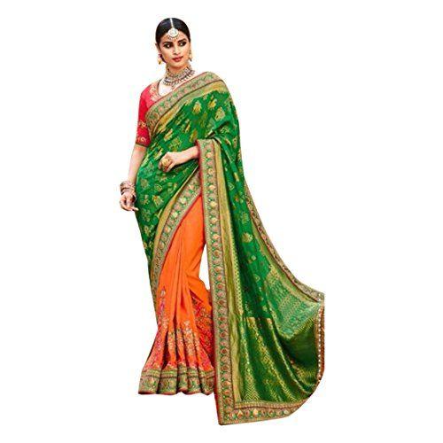 Sari Saree Bollywood Designer Tradizionale Indiano Pakistano da sposa Wear etnico