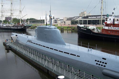 German Submarine Type XXI U-Boat.