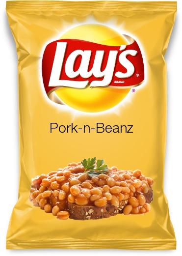 #PorkNBeanz Made with molasses; the classic canned comfort food in a chip!