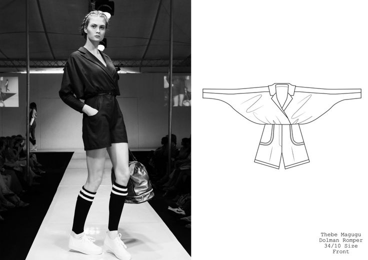 My Second Year Garment - I love the ease in sports-luxe. x