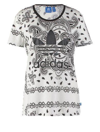 adidas Originals PAISLEY  Tshirt z nadrukiem white/black
