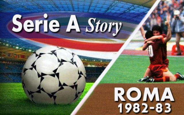 SerieA Story: 1982-83, la Roma torna Campione d'Italia! Pronti, partenza, via! Sorprende la Sampdoria del giovane Mancini ma la Roma balza subito in testa. Alle sue spalle si alternano varie squadre. Sino alla fine del girone di andata è il Verona la prin #roma #asroma #dzeko #scudetto82-83