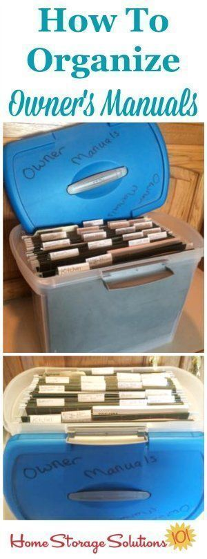 How to organize owner's manuals in a filing system {on Home Storage Solutions 101}