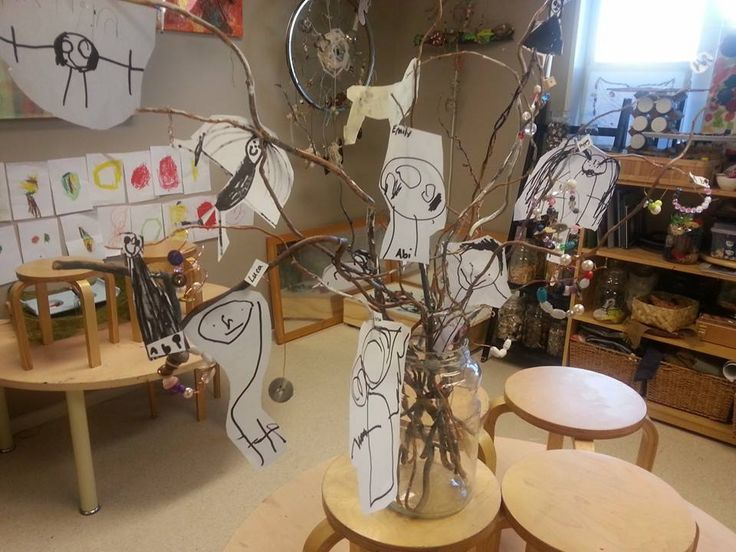 Relationships: Who are our friends and what do they look like? A friendship tree adorned with pictures of friends and friendship bracelets ≈≈ Nature's Play Preschool -Pegasus ≈≈