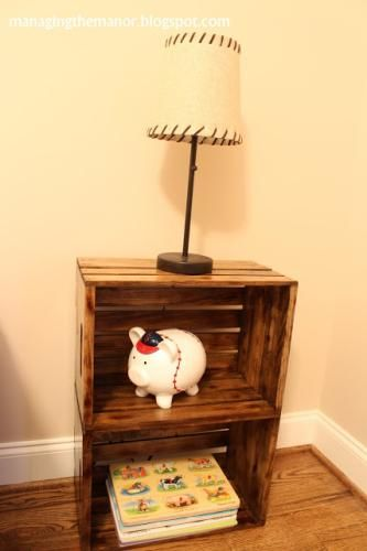 Stack two to make a night stand wooden crates for Table made from crates