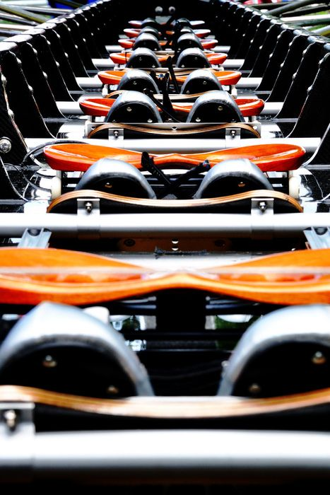 Pretty orange seats from OSU crews