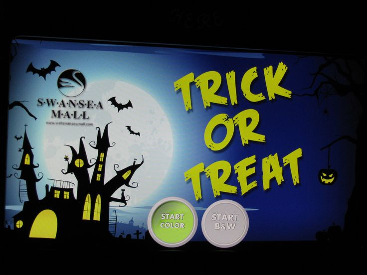 Booth Screen for Trick or Treat in the Mall at Swansea Mall