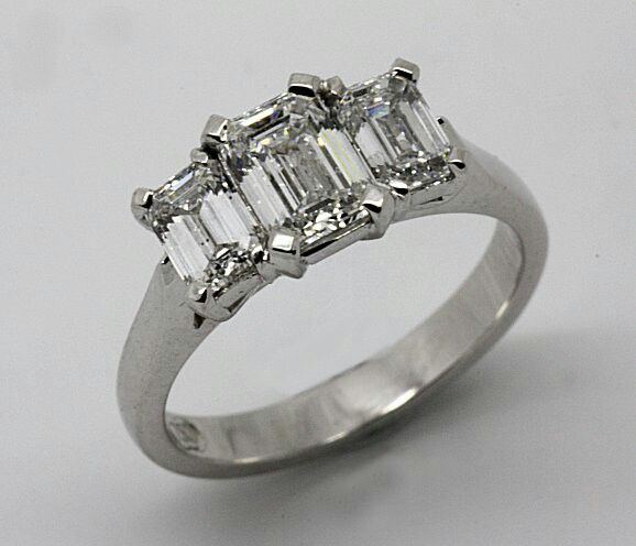 All handmade and handset 18ct. Whitegold Diamond Engagement ring