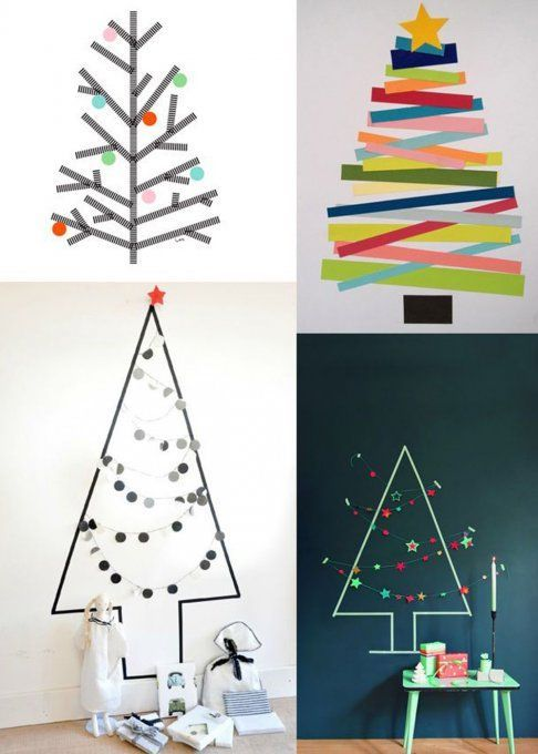 masking tape id es conseils diy shopping hello december masking tape and christmas tree. Black Bedroom Furniture Sets. Home Design Ideas
