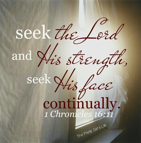 Seek the Lord in all you do, and He will strengthen you to get the job done. www.facebook.com/theprettygirlslife  #strength #seek #scripture