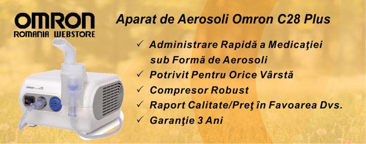 Aparat Aerosoli Omron Pentru Intreaga Familie  Omron ofera o gama larga de aparate de aerosoli pentru intreaga familie, potrivite pentru tratamentul afectiunilor pulmonare acute sau cronice  Aparatul aerosoli Omron asigura, cu fiecare respiratie, depunerea eficienta a medicatiei in plamini, oferind rezultate terapeutice foarte bune.  http://www.omron.com.ro/catalog/aparat-aerosoli-omron-100984