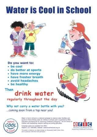 School Nurse Posters | ... is cool in school poster 212x300 Water is Cool in School Initiative