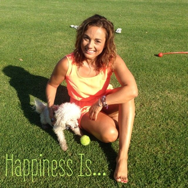 Day 3 of 21 Days Of Happy.  Happiness Is... Having fun playing fetch with my dog at the park.