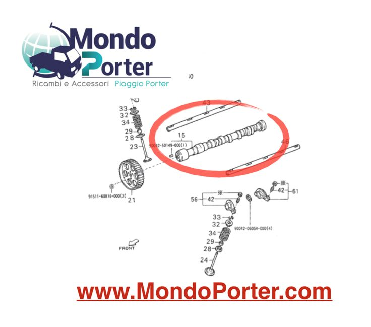 Albero Camme Piaggio Porter 1.3 Benzina 16 Valvole 1350187107000