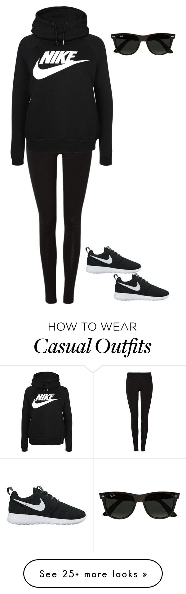 """Casual Nike"" by cgr042904 on Polyvore featuring NIKE and Ray-Ban"