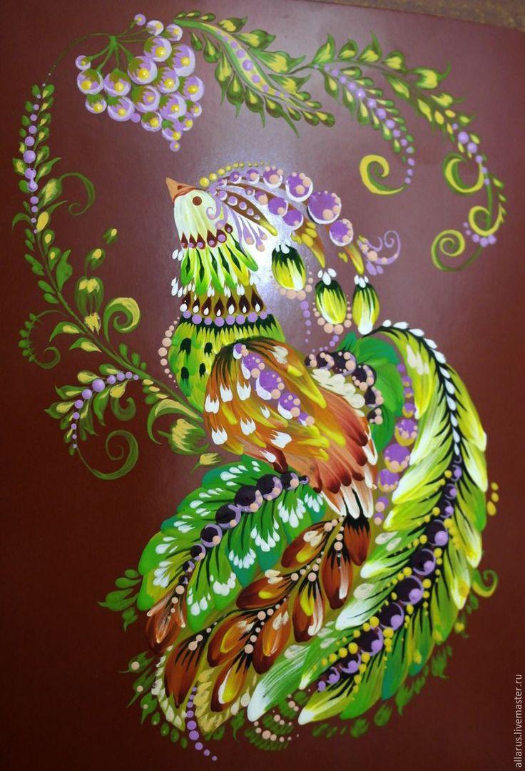 Рисуем птицу переходными мазками беличьей кистью - Ярмарка Мастеров - ручная работа, handmade