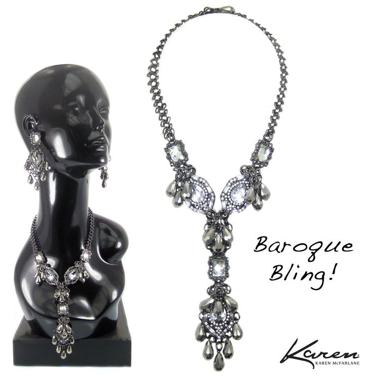 Baroque Bling! Necklace By Karen McFarlane http://jewellerybykaren.com/bout…/new-designs/necklace-1100n