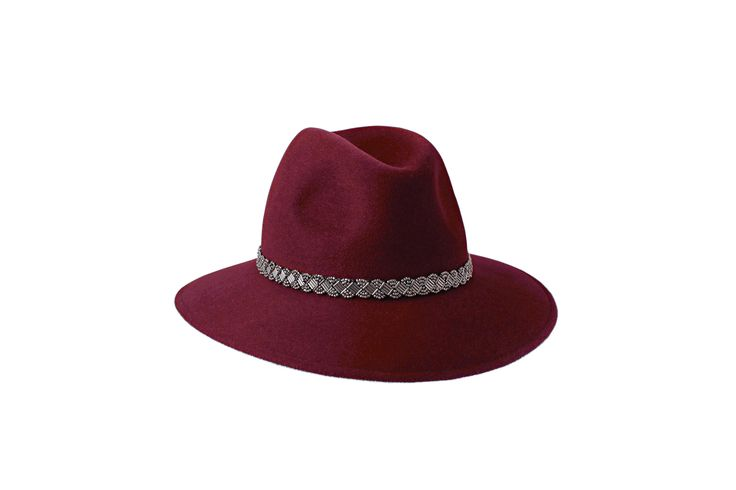 The A/W15 Collection | Willow Fedora | Burgundy | Silver Beaded Band www.penmayne.com #fedora #hats #accessories