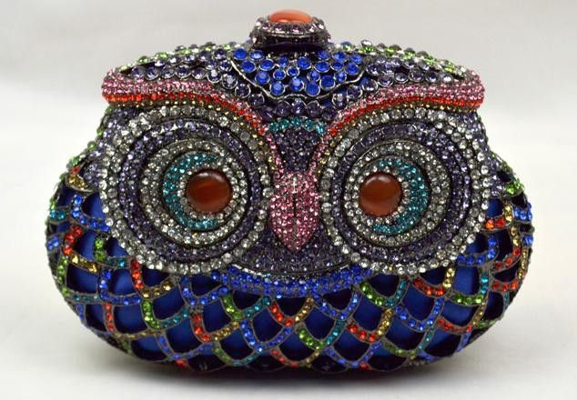 Леди женщин цепи мини небольшой прекрасно ретро сумочка вечерняя сумочка горный хрусталь 2014 новый роскошный сова элегантный светская стиль ну вечеринку королева, принадлежащий категории Вечерние сумки и относящийся к Чемоданы и сумки на сайте AliExpress.com   Alibaba Group