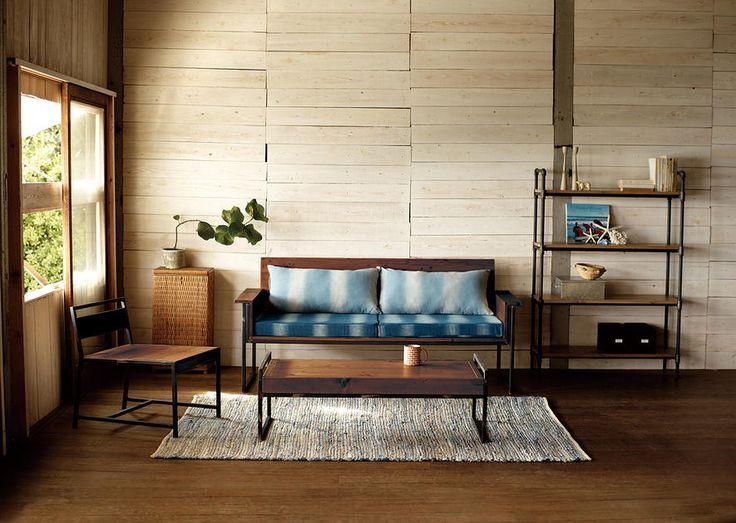 [ナチュラル]スチール×天然木ヴィンテージテイスト ローテーブル:ナチュラル,ヴィンテージ&レトロ,ライトブラウン系,Home's Style(ホームズスタイル)のローテーブルの画像