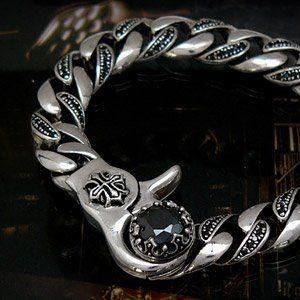 シルバーアクセサリー ブレスレット メンズ ブラックジルコニア 王冠 十字架 b0514 腕周り約17.5cm 2PIECES, http://www.amazon.co.jp/dp/B008HFAYFQ/ref=cm_sw_r_pi_dp_lh8fsb0ZKBC8R