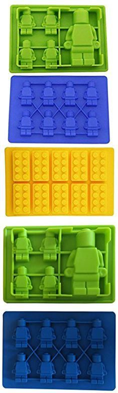 Lego Mold Silicone. Youdepot Yellow Building Brick & Blue & Green Multi-size Minifigure Silicone Ice Tray Candy Mold Set (Blue/Green/Yellow, 1).  #lego #mold #silicone #legomold #moldsilicone