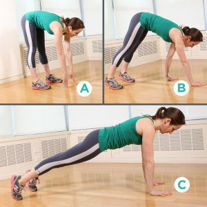 lower abs exercise: inch worm