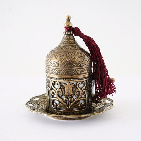 Brass Turkish Coffee Set For Two