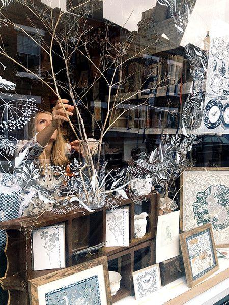 Rosemary Milner at J&B The Shop - Rosemary Milner, window drawing, display, design, illustration, shop