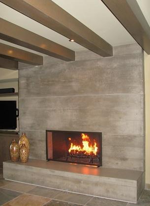 Concrete Fireplace. Visit https://twitter.com/MGProjekt for all Concrete_Design & Installation.