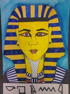 Once upon an Art Room: Portraits of King Tut