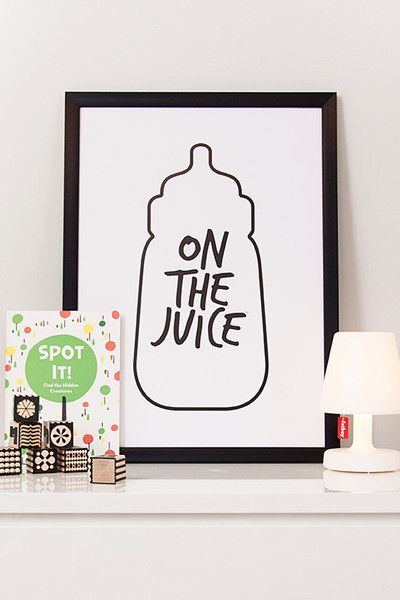 This edgy and unique print will be the talking point of any kids space. It will make drinking milk so cool even the adults will want to join in on the party.