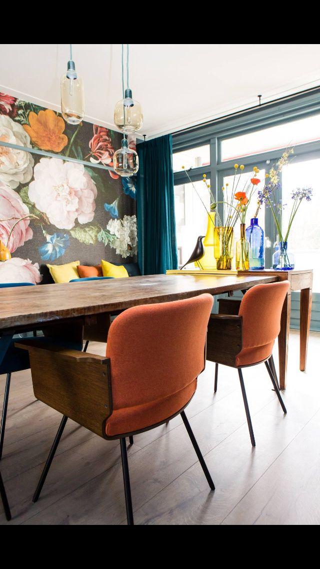 Prachtig behang zo uit één van de stijlstudio's van Eijerkamp (en een beetje uit het Rijks...ssst).