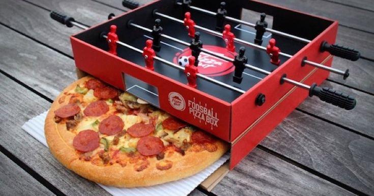 Pizza Hut a transformé ses boîtes à pizza en baby foot ...