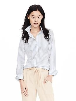 Riley-Fit Multi-Stripe Shirt | Banana Republic