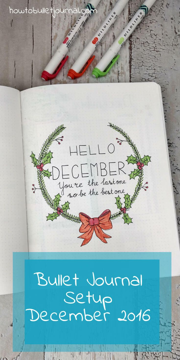 November flew by and it's already time for the Bullet Journal setup of December. It's getting cold outside and it already feels like winter, with temperatures of -10 degrees centigrade. I'm already looking forward to Christmas, snowy days and the time spend with family and friends!