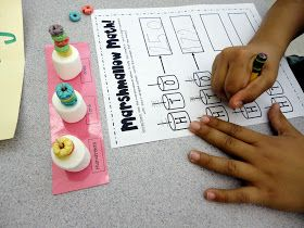 Babbling Abby: Monday News & Place Value Marshmallow Activity {first grade}
