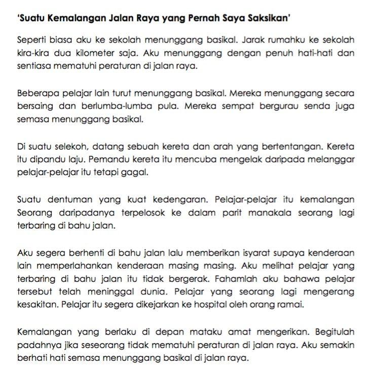 11 Contoh Karangan Upsr Terbaik Bahasa Melayu School Study Tips Malay Language Essay