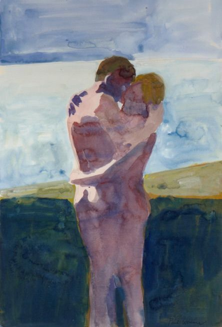 kundst:Paul Wonner (US 1920-2008)Embracing Couple (1960) Wonner was associated with the Bay Area Figurative Movement