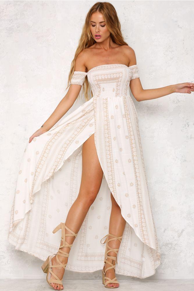 HelloMolly | Inside Job Maxi Dress White - Back In Stock - Most Loved