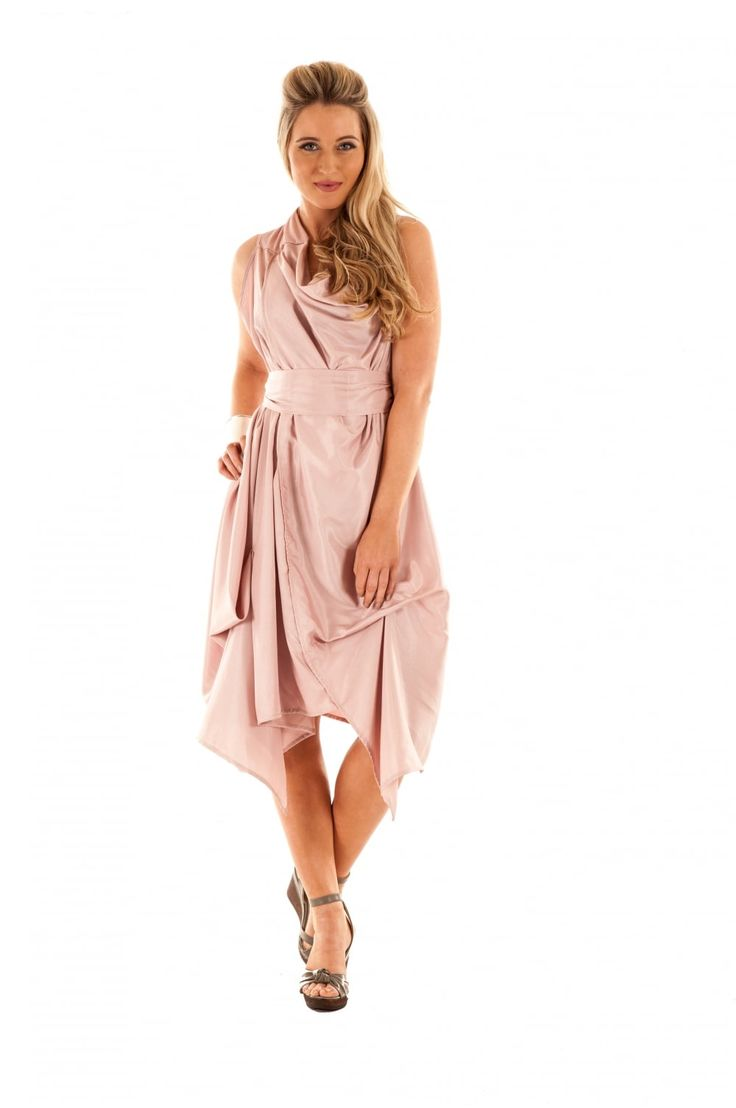 Jolaby Ref 2077 Wrap Ruched Dress - Long Length - Dresses from Jolaby UK