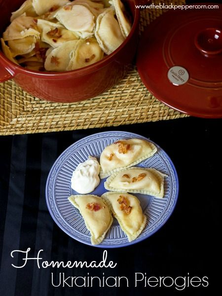Traditional Ukrainian Pierogies  I always thought perogies were polish or slovak, but this is true comfort food from childhood!