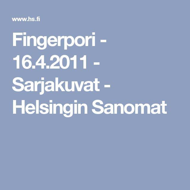 Raamattu kirjaimellisesti. Fingerpori - 16.4.2011 - Sarjakuvat - Helsingin Sanomat